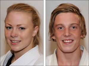 F.v. Madelene Rubinstein og Henrik Reitan. FOTO: Christian Wolff - judobilder.org