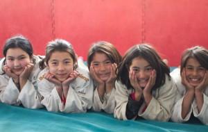 Noen av judojentene i Afghanistan.