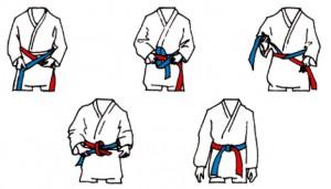 Illustrasjon: Hvordan knyte beltet.