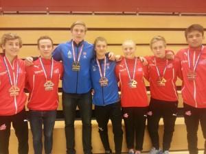 Norske medaljevinnere i Emmen. FOTO: Albin Dal