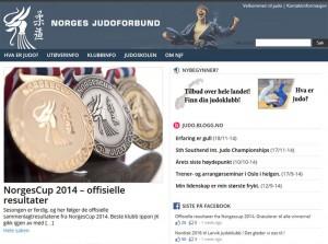 Nye judo.no lansert 29. des. 2014.  FOTO: Faksimile judo.no