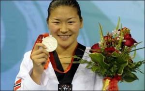 Sølvmedaljevinner i Taekwondo fra OL 2008 i Beijing, Nina Solheim er foreslått som styremedlem. FOTO: Faksimile: Scanpix/VG