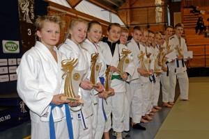 Endringer i Stevnereglementet: Bilde fra utdeling av NC-premier 2014. FOTO: Christian Wolff / Judobilder.org