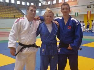 Albin Dal, Thea Lillegaard og Sander Knutsen.