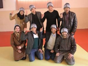 Fra v.b.: Fatema, Tamim, Bazmuhammad, Zaki. Fra v.f.: Lina, Farhad, Zabi og Mujeeb