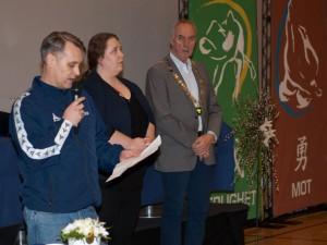 Stevneåpning av ordfører i Sandnes, Stanley Wirak og president i NJF, Vibeke Thiblin.