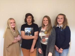 F.v.: Lilly Solum, Kenny Halvorsen, Johanna Holmsen og Ronja Ørka.