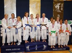 U18 Jenter ble vunnet av Judoregion Midt. FOTO: Christian Wolff.