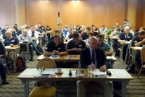 Deltakerne på EJU-seminar for dommere og coacher. FOTO: Thom Hallum