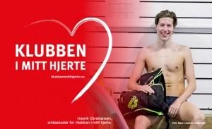 Svømmeren Henrik Christiansen er ambassadør for kampanjen Klubben i mitt hjerte 2016.