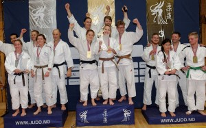 Pallen i Senior Mix. Norgesmester ble Oslo JK. Foto: Christian Wolff / judobilder.org